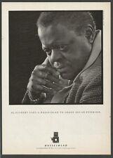 HASSELBLAD camera - Al Gilbert shoots Oscar Peterson - 1986 Vintage Print Ad