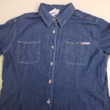 DISNEY Short Sleeve Jean Jacket Women's Size Extra Large XL Blue Denim NEW NWT
