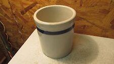 Antique Stoneware Blue Band Beater Jar