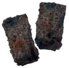 Northstar Women's Knitted Kidskin Multi-colored Fur Boot Cover Leg Warmer. H-56