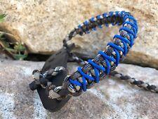 COMPOUND BOW WRIST SLING FOR BOWTECH PSE, HOYT MATHEWS Brown camo blue X Weave