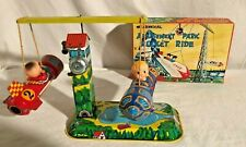 Yoneya YONE Amusement Park Rocket Ride Space Japan Wind Up Toy original box