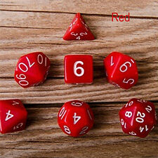 7pcs Polyhedral Acrylic Dungeons Dragons Dice Multiple Sides Role Playing GameWc