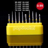 Dental Diamond Burs FG-105 for Porcelain Ceramics Composite Polishing 10pcs/kit