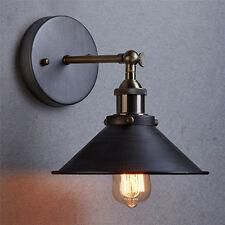 Nero Modern Vintage Industriale Loft in metallo Rustico Lampada Muro Luce Lampad