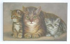 Künstlerische Malerein mit Katzen-Motiv auf Leinwand