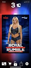 Slam DIGITAL Charlotte Flair Royal Rumble 2016/2017 Base Blue WWE Topps