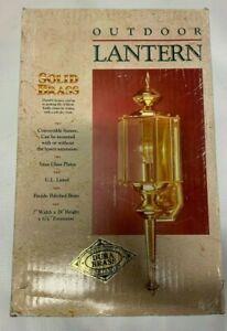 Solid Brass Outdoor Wall Lantern light