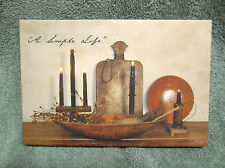A Simple Life Canvas Sign Picture Country Billy Jacobs Candles