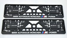 1x Car Licence Number Plate Surround Holder Frame for BMW M-power M5 M3