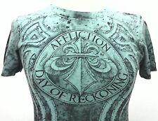 Affliction MMA UFC Womens Fedor Vs Arlovski Day of Reck Tshirt Turquoise Small