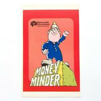1980s Newcastle Permanent Building Society Money Minder Sticker VINTAGE NOS