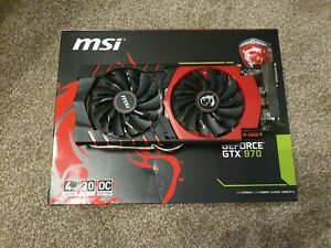 MSI GeForce Nvidia GTX 970 4GB GDDR5 Graphics Card (OC edition)