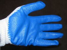 Ruber latex palm coated work Gloves Blue  5 pair trapping NEW SALE