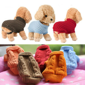 Kitten Puppy Dog Sweater Knitted Jumper Winter Clothes for Yorkie Teacup XXXXS