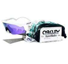 Oakley OO 9140-15 RAZOR BLADES Heritage Collection White Violet Rare Sunglasses
