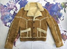 Ardney Jacket Shearling Sheepskin Suede Ranch Leather Vtg USA Made Fur Coat 38 S