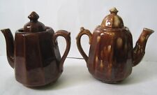 Vintage pair Tea Pots Bennington Rockingham Small 1 to 2 Cup Size Used AS FOUND