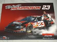 2009 ROBERT RICHARDSON #23 MAHINDRA TRACTORS NASCAR POSTCARD