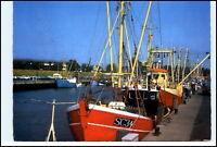 BÜSUM ~1975/80 Fischerei Hafen Fischerboote Schiffe Postkarte gebraucht