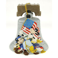 Disney Mickey Goofy Donald Duck Liberty Bell Figure Limited Edition Cookie Jar