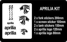 Aprilia Motorbike Sticker Kit ANY COLOUR