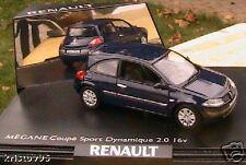 RENAULT MEGANE COUPE SPORT DYNAMIQUE 2.0 16V NOREV 1/43 DARK BLUE BLEU SOMBRE
