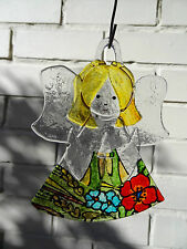 Fused Glass Art, handmade, Angel, unique gift for any occasion