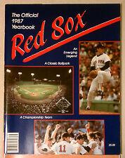BOSTON RED SOX 1987 YEARBOOK MAGAZINE MINT  MLB BASEBALL PROGRAM SOUVENIR
