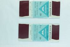 "Wright's Trims 90 WINE 1/2"" 6 yds Seam Binding Card Making Gift Wrap Scrapbook"