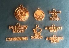 Charms Air Force Charm Military Charm U.S. Military Charm Service Charm Pendant