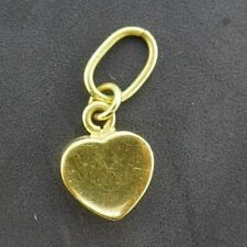 18k Yellow Gold Heart Charm
