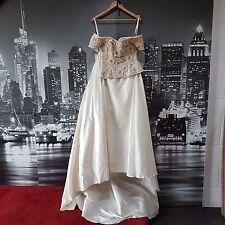 LOOK Vintage con perline Corpetto + Gonna (Avorio-Oro-Taglia 8) matrimonio, evento speciale!