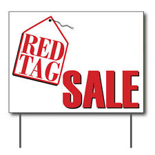 """Red Tag Sale Curbside Sign, 24""""w x 18""""h, Full Color Double Sided"""