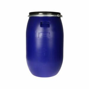 Kunststofffass 120L Lebensmittelfass Tonne Fass Wasser Getränkefass Regenfass