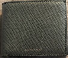 AUTHENTIC Michael Kors Greyhound Harrison Billfold Leather Wallet! NEW!!!
