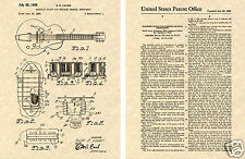 HUMBUCKER PICKUP Gibson Guitar PATENT Art Print READY TO FRAME Lover PAF