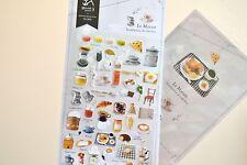 Le Marais Coffee Cafe Marcaron Breakfast Dessert Paper Sticker DIY Scrapbook