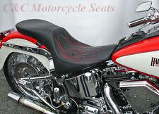 Harley-Davidson Softail Fatboy, Custom C&C Leather SportTour W/Red Flame FXS 355
