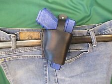 Leather Holster for Glock 17 and 19,  THUMB BREAK,  9 MM Semi Auto, Right Hand
