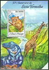 SAO TOME 2014 50th ANNIVERSARY OF THE RED LIST OF ENDANGERED SPECIES S/S MINT NH