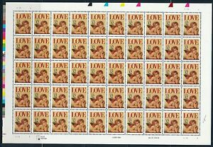 USA 1994 LOVE 50 X 32 CENT STAMPS SHEET MNH