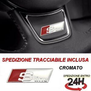 stemma volante audi adesivo logo A1 A3 A4 A5 A6 A7 A8 S-LINE S LINE CROMATO