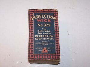 Vtg NIP new Perfection Wick No. 325 for use in room heaters listed on the box