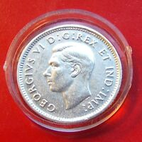 SCARCE XF 1945 Canada Ten Cents George,  Great looking details with HOLDER