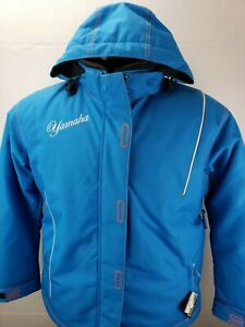 Yamaha Womens Snowmobile Jacket Teal Blue Script Logo Size 12 New With Tags