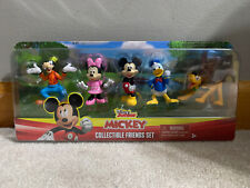 "New Disney Junior Mickey Collectible Friends Set 2"" Figures Minnie Pluto Goofy"