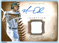 Matt Olson 2015 Bowman Inception Auto Signed Autographed Oakland A's Jersey Card