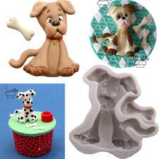 Dog Silicone Fondant Mould Cake Pet Puppy Bone Chocolate Decorating Baking Mold
