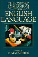 The oxford companion to the English language - Tom McArthur - - 412002 - 2256487